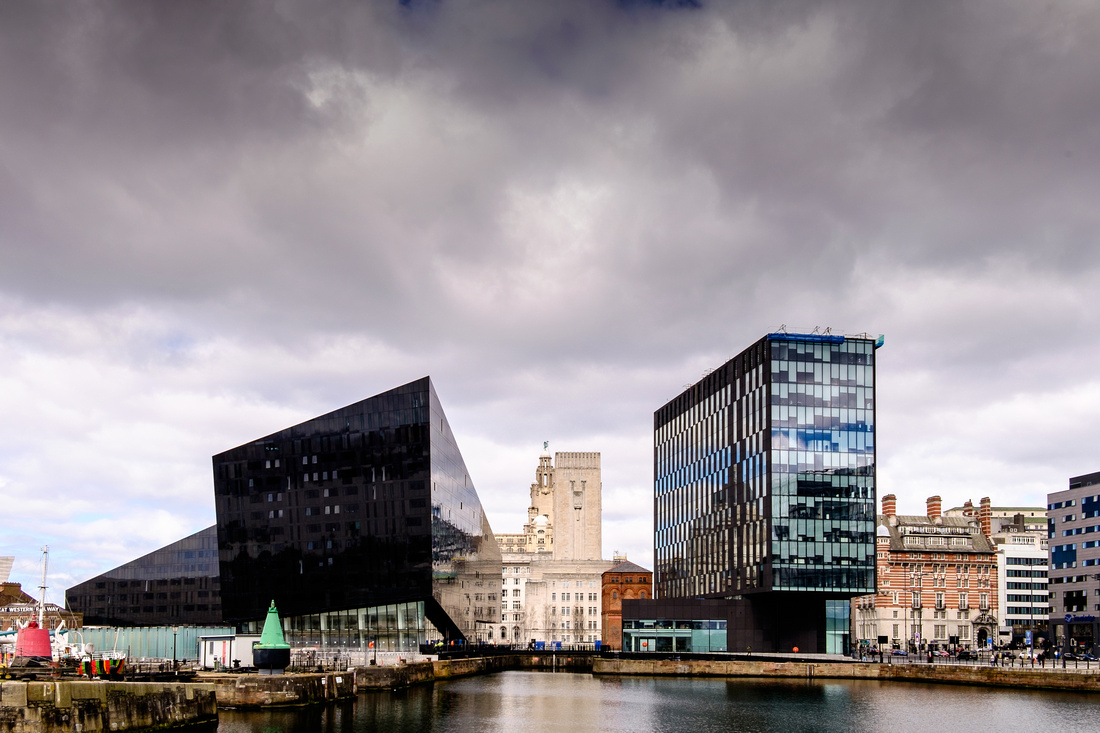 Open Eye Gallery and surrounding buildings, Liverpool.